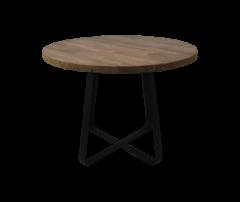 Table basse Junction - ø50 cm - teck ancien  /  fer