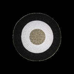 Tapis Mailbu - ø120 cm - raphia / grass - naturel / blanc / noir