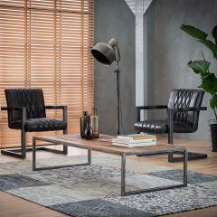 Table de salon 150x70 grained - Bois dur robuste