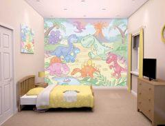 Papier peint Pays des Dinosaures
