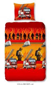 Housse de couette Fire Dept 140x220 - rouge