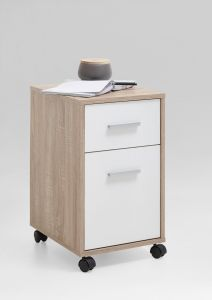 Caisson à tiroirs Sneek - chêne/blanc