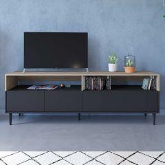 Meuble TV Horizon - chêne/noir