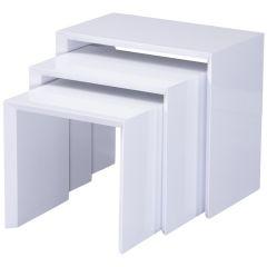 3 tables basses gigognes Joker - blanc