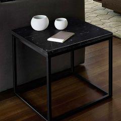 Table d'appoint Prairie - marbre noir/acier