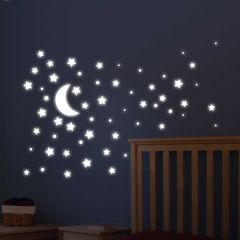 Stickers muraux Super Stars phosphorescents