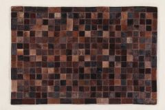 In Leather Patchwork Choco 200X140
