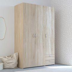 Armoire de rangement Salvador 3 portes & 2 tiroirs - chêne sonoma