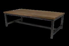 Table basse - 120x60 cm - naturel / noir - teck / fer