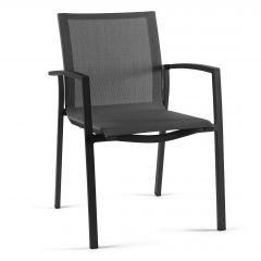 Chaise de jardin Lazaro - anthracite/gris argenté