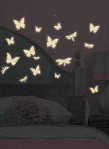 RoomMates stickers muraux - Papillons & Libellules Brille dans le noir