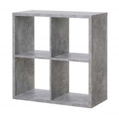 Cube de rangement Max 4 niches - béton