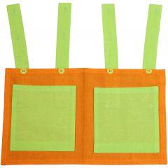 Sac de rangement vert/orange