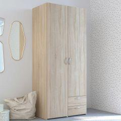 Armoire de rangement Salvador 2 portes & 2 tiroirs - chêne sonoma