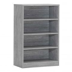 Bibliothèque Spacio 72cm à 3 tablettes - chêne gris