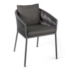 Chaise de jardin Equator - anthracite/gris foncé