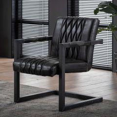 Lot de 2 fauteuils Vivian - anthracite