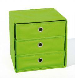 Boîte de rangement Willy 3 tiroirs - vert