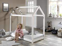 Lit cabane Home 70x140 - blanc