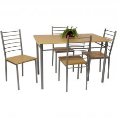Table et chaises Chiara - naturel