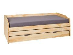 Lit banquette gigogne Lothar 90x200 cm - naturel