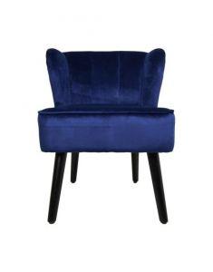 Chaise de cocktail Estelle - velours - bleu foncé