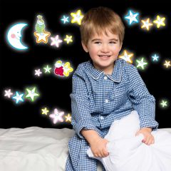 Stickers muraux Smiling Stars phosphorescents