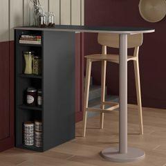Table de bar Amel - noir/gris