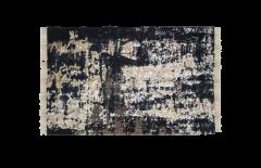 Tapis - coton - 180x120 cm - gris / beige / bleu / or
