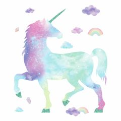 Sticker mural Galaxy Unicorn