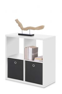 Cube de rangement Max 4 niches - blanc
