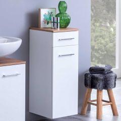 Armoire salle de bains Pares 30cm 1 porte & 1 tiroir - blanc