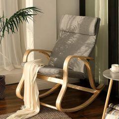 Chaise à bascule Suzan - gris/bouleau