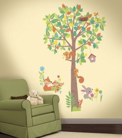 Stickers muraux Woodland Creatures Tree