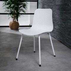 Set de 4 chaises Demi - blanc