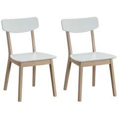 Lot de 2 chaises Anso - blanc