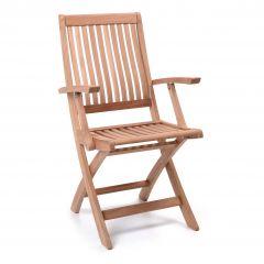 Chaise de jardin pliable avec accoudoir Birmingham
