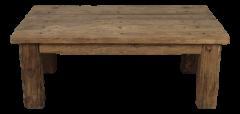 Table basse - pied droit - pilier électrique - vieux bois très rustique