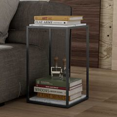 Table d'appoint Forrest - marbre blanc