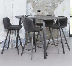 Table de bar pied rectangulaire - 3D beton