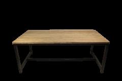 Table de repas Hunter - 220x100 cm - teck / fer recyclé