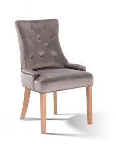 Lot de 2 chaises de salle à manger Bristol - gris kaki/naturel