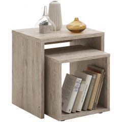 Tables d'appoint Duo - chêne gris