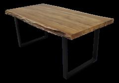 Table de repas SoHo - 180x90 cm - acacia / fer