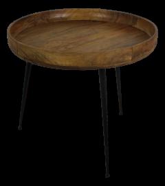 Table d'appoint Ventura - ø60 cm - bois de manguier / fer - naturel