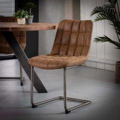 Lot de 2 chaises Maeve - brun