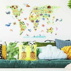 Sticker mural Kids World Map