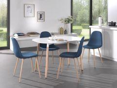 Table Hans 140x80 - blanc mat