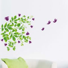 Stickers muraux Leaves & Butterflies