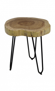 Table d'appoint Live Edge - grande - acacia / fer